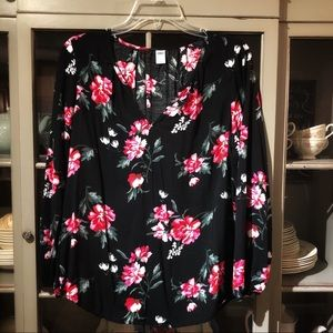 Old Navy Floral Long Sleeve Blouse